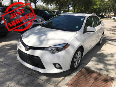 Used TOYOTA COROLLA 2014 WEST PALM LE