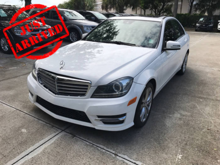 Used MERCEDES-BENZ C CLASS 2013 WEST PALM C300 4MATIC
