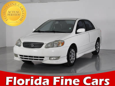 Used TOYOTA COROLLA 2003 WEST PALM