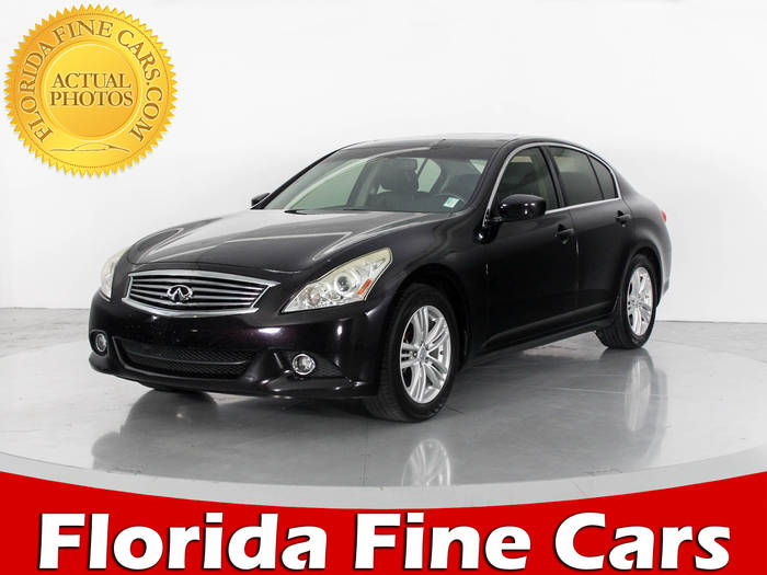 Used INFINITI G37 2012 WEST PALM