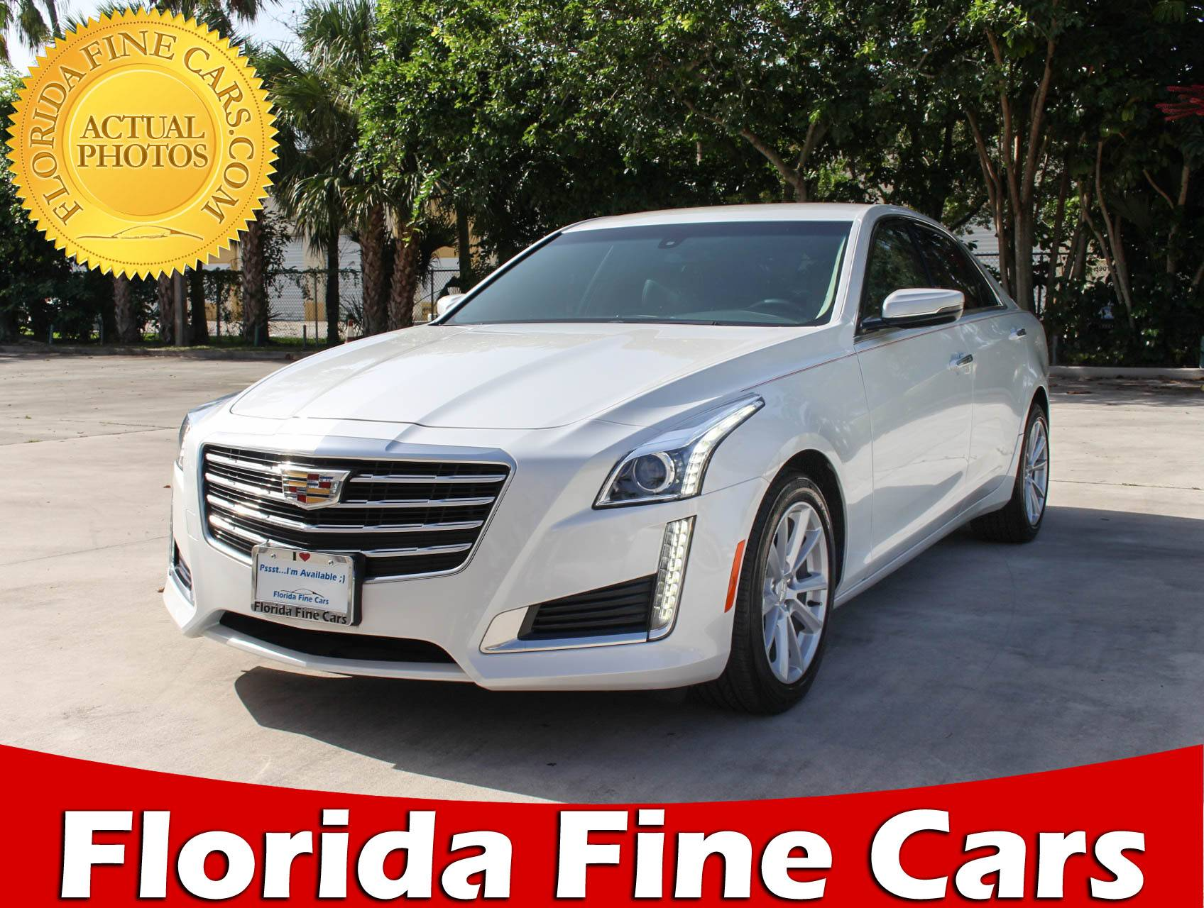 Preowned 2018 Cadillac Cts 2 0l Turbo Sedan White 96870 Florida Fine Cars In Margate