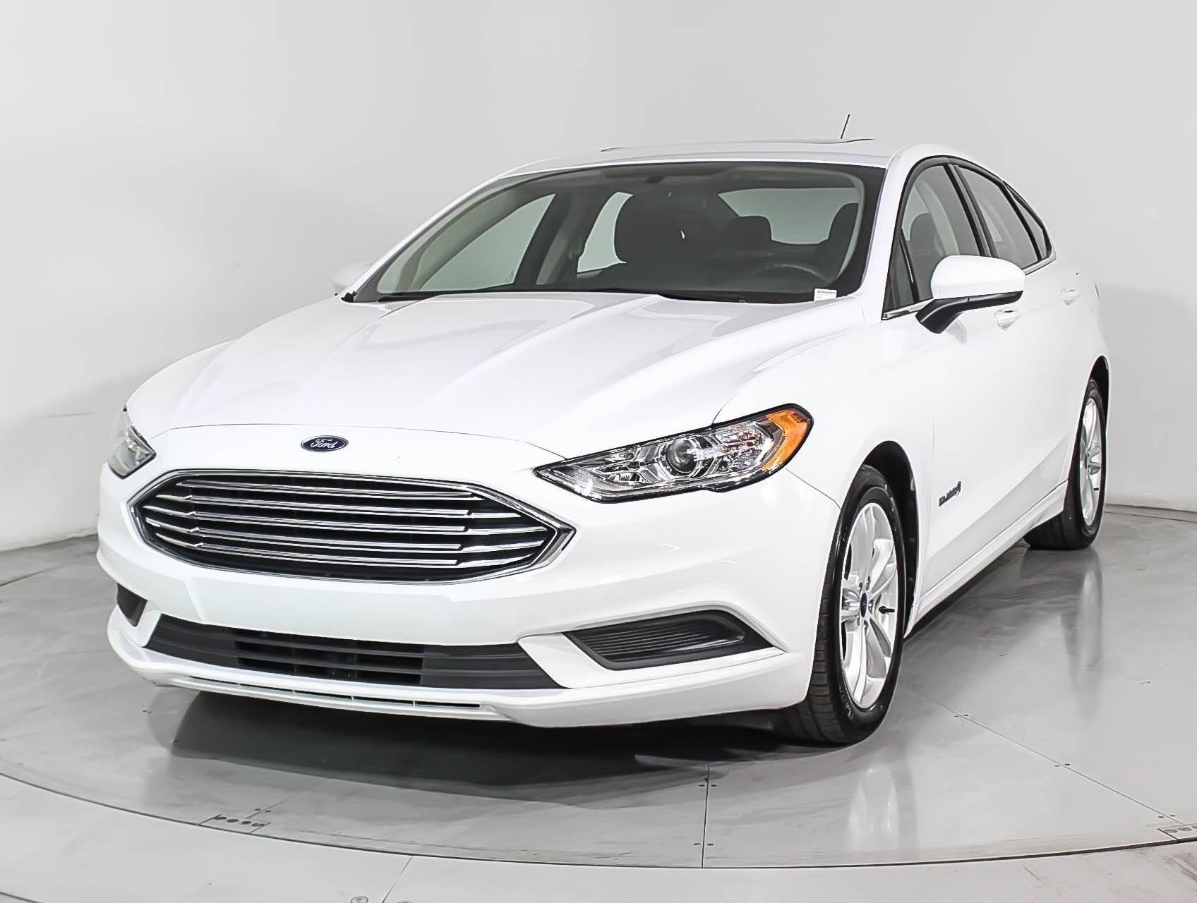 Used 2018 Ford Fusion Se Hybrid Sedan
