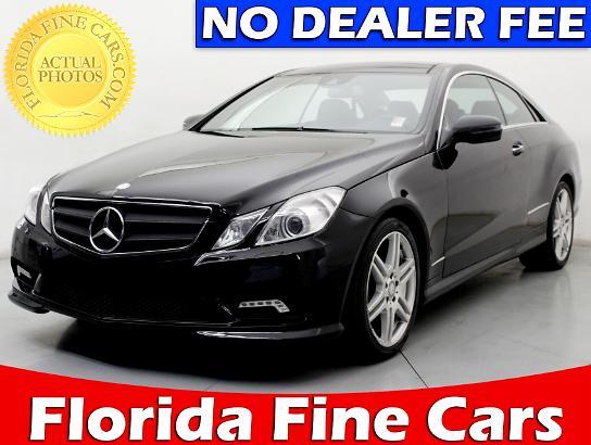 Used 2010 MERCEDES BENZ E CLASS E550 Coupe For Sale In MIAMI, FL | 78715 |  Florida Fine Cars