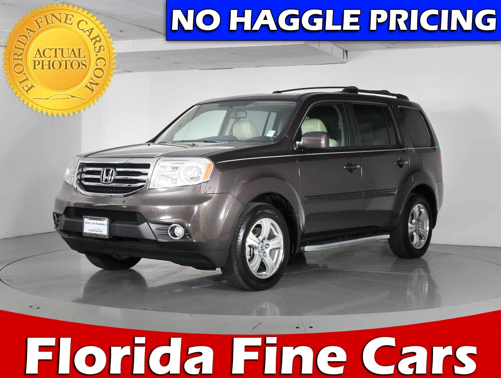 Used 2014 HONDA PILOT EXL SUV For Sale In HOLLYWOOD, FL | 85165 | Florida  Fine Cars