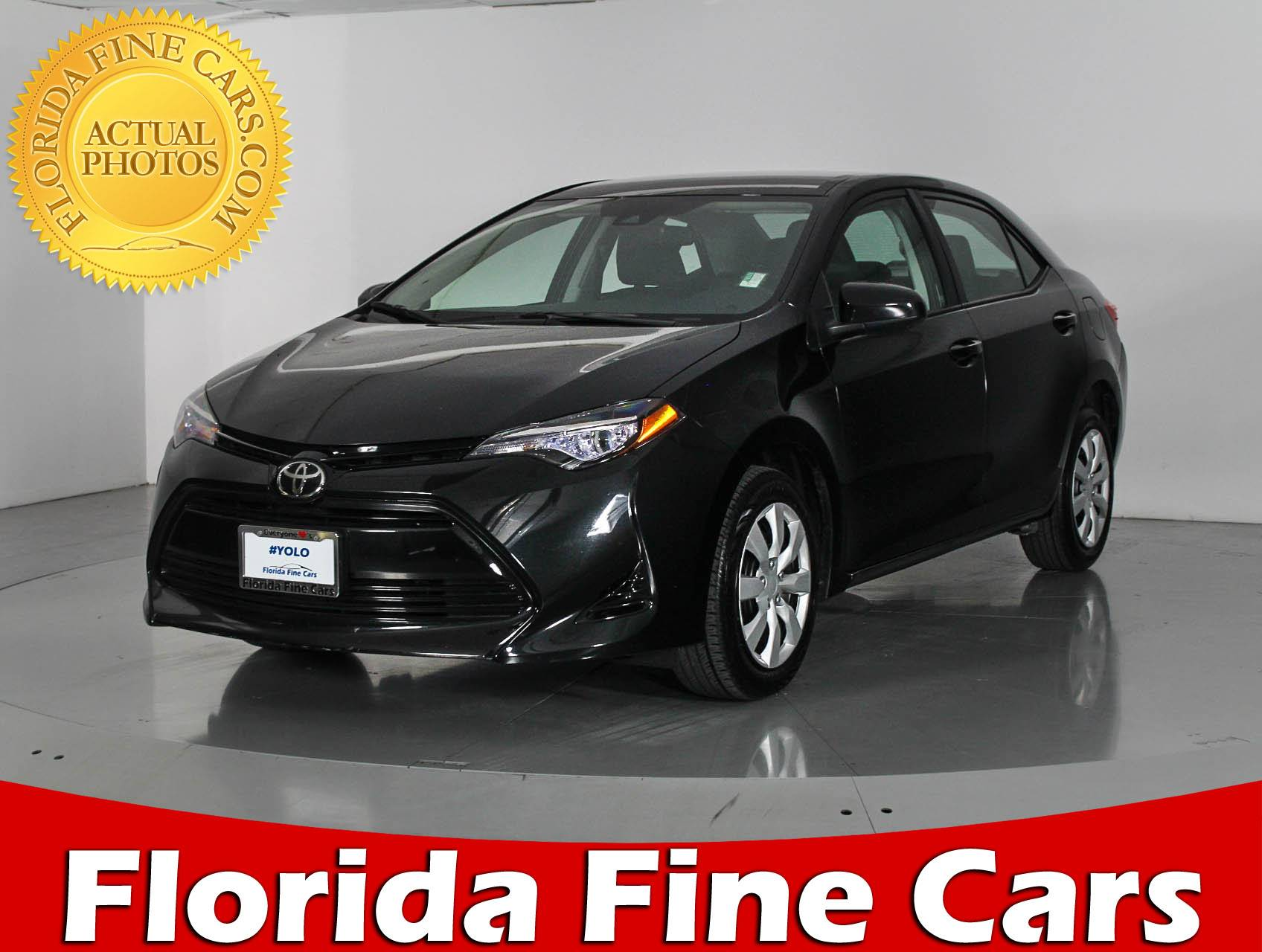 Used 2017 TOYOTA COROLLA LE Sedan for sale in WEST PALM FL