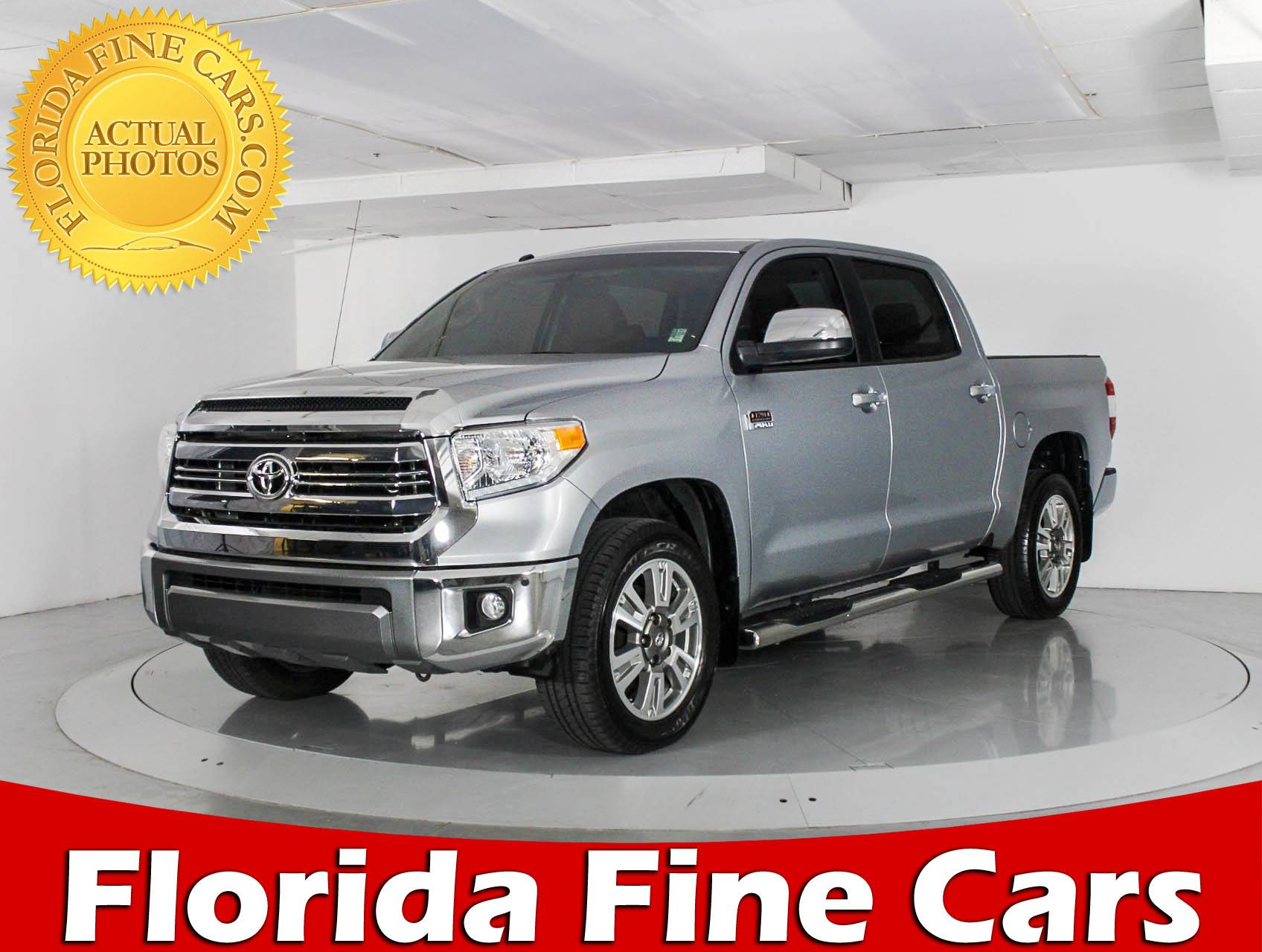 Used 2016 TOYOTA TUNDRA 1794 Truck for sale in WEST PALM FL