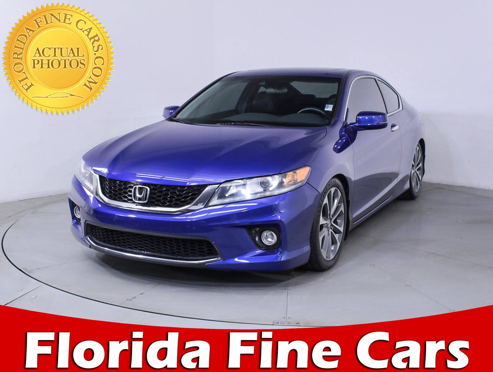 Used 2013 HONDA ACCORD EX L Coupe For Sale In HOLLYWOOD, FL | 86094 |  Florida Fine Cars