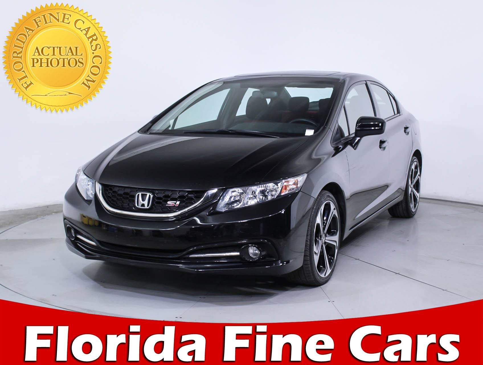Used 2015 HONDA CIVIC SI Sedan For Sale In HOLLYWOOD, FL | 88756 | Florida  Fine Cars