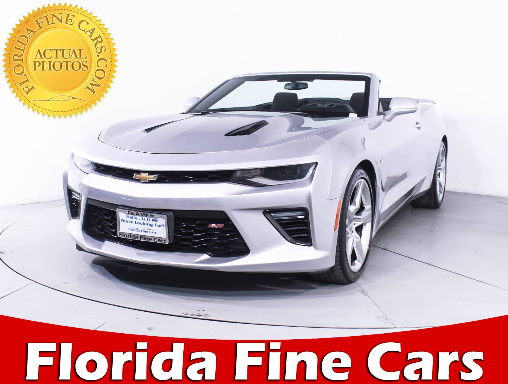 used 2017 chevrolet camaro 1ss convertible for sale in miami fl 90210 florida fine cars. Black Bedroom Furniture Sets. Home Design Ideas
