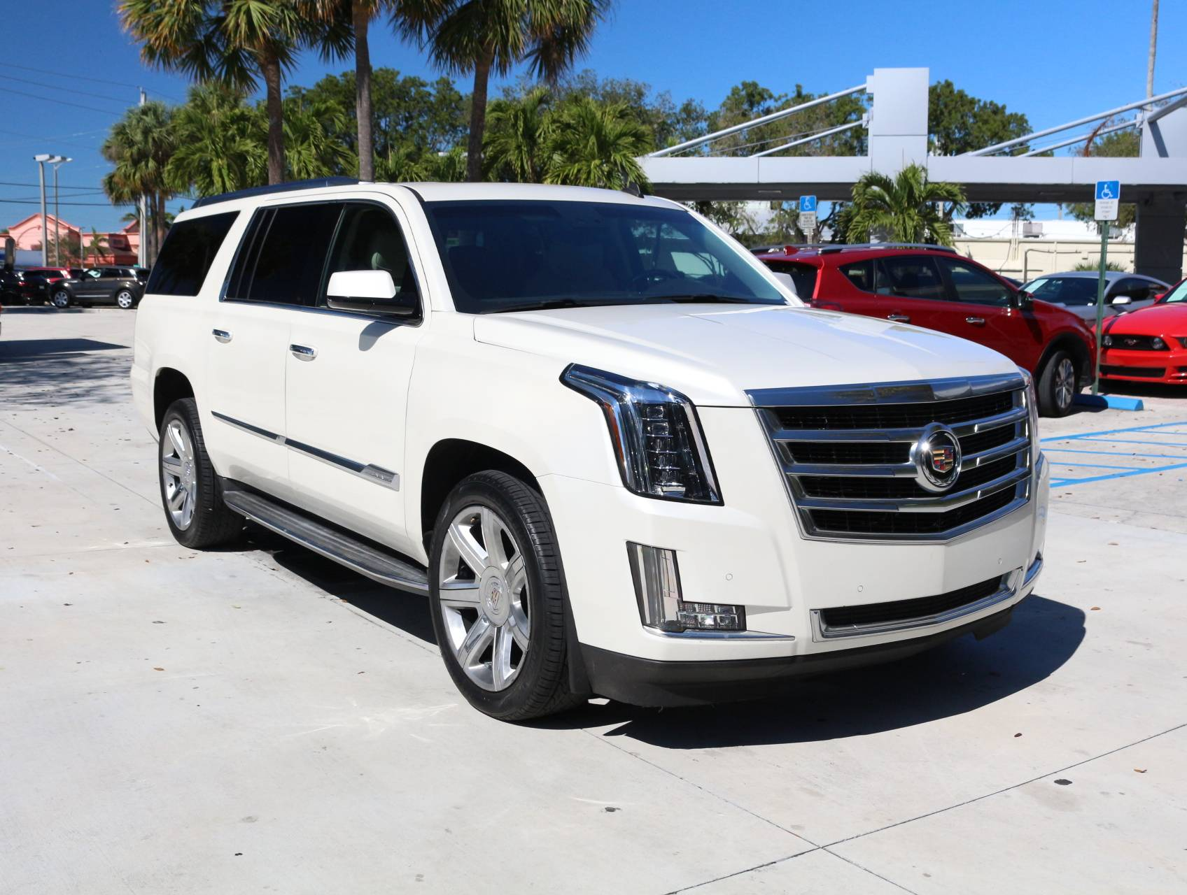 Used 2015 CADILLAC ESCALADE ESV LUXURY SUV for sale in HOLLYWOOD FL