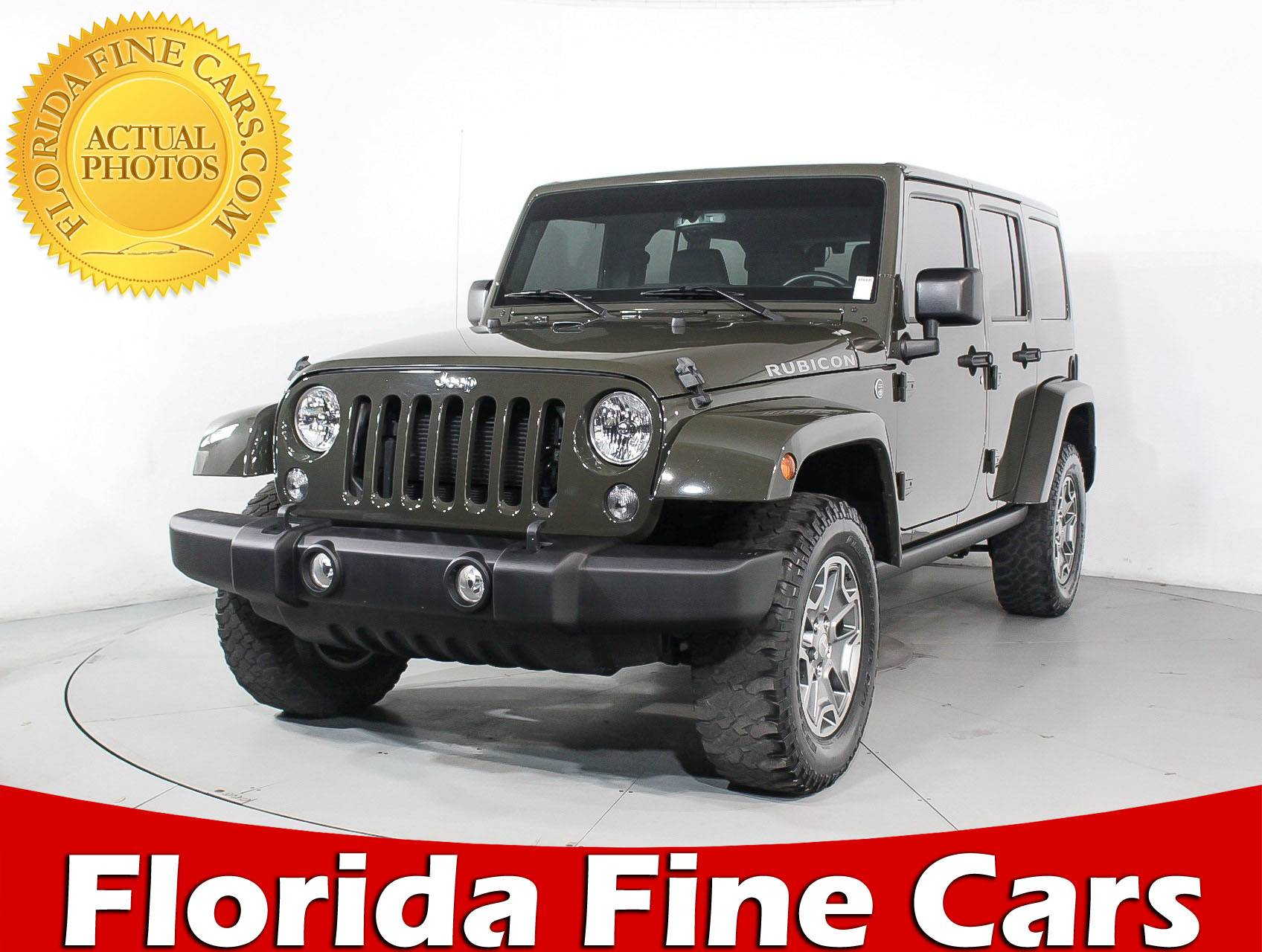 Used 2015 JEEP WRANGLER UNLIMITED RUBICON SUV For Sale In MIAMI, FL | 91367  | Florida Fine Cars