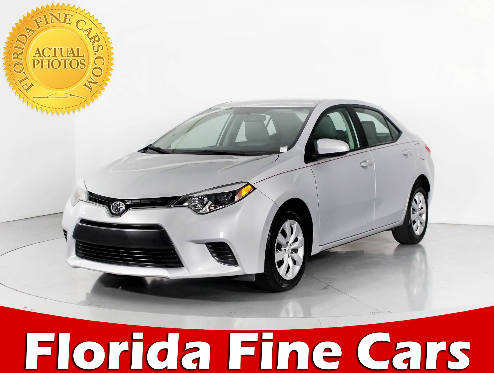 Used 2015 TOYOTA COROLLA Le Sedan for sale in WEST PALM FL