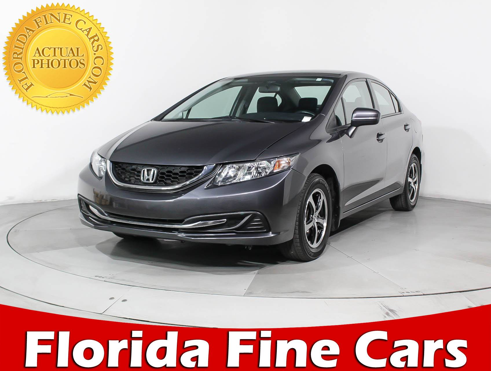 Used 2015 HONDA CIVIC SE Sedan For Sale In HOLLYWOOD, FL | 91711 | Florida  Fine Cars