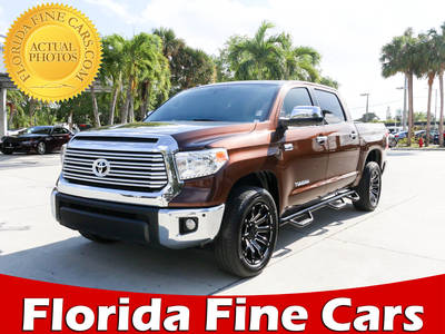 Used TOYOTA TUNDRA 2015 WEST PALM Crew Max Limited