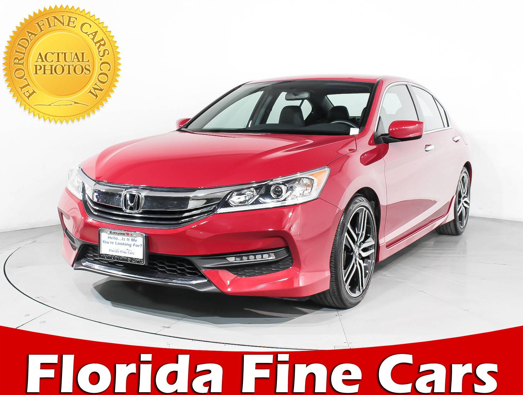 Used 2016 HONDA ACCORD SPORT Sedan For Sale In HOLLYWOOD, FL | 91796 |  Florida Fine Cars
