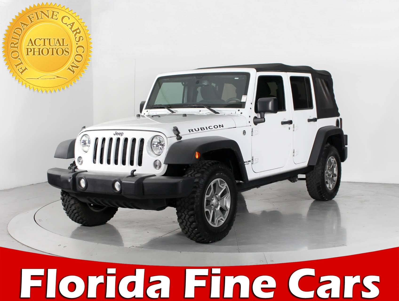 Used 2015 JEEP WRANGLER UNLIMITED RUBICON SUV for sale in WEST PALM