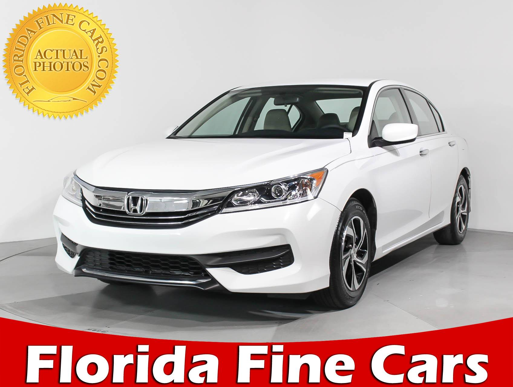 Used 2016 HONDA ACCORD LX Sedan For Sale In HOLLYWOOD, FL | 92096 | Florida  Fine Cars