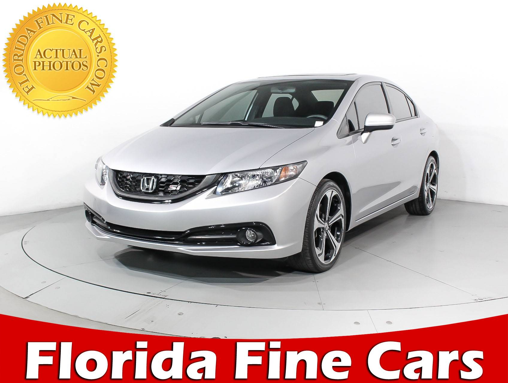 Used 2015 HONDA CIVIC SI Sedan For Sale In HOLLYWOOD, FL | 92337 | Florida  Fine Cars