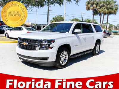Used CHEVROLET SUBURBAN 2017 WEST PALM LT
