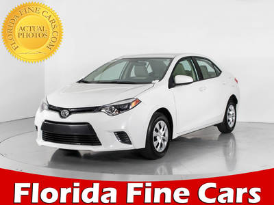 Used TOYOTA COROLLA 2016 WEST PALM LE ECO
