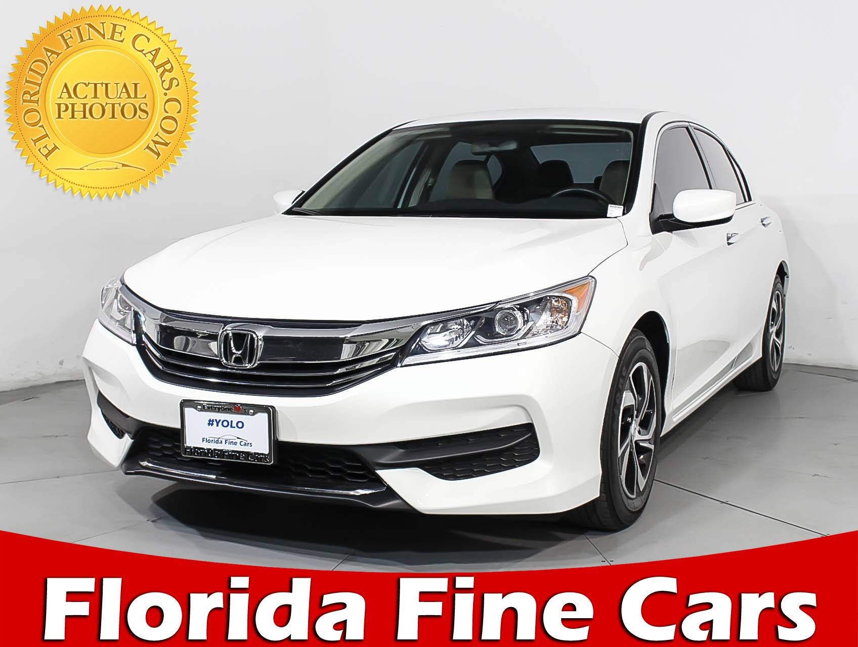 Used 2017 HONDA ACCORD LX Sedan For Sale In HOLLYWOOD, FL | 92978 | Florida  Fine Cars