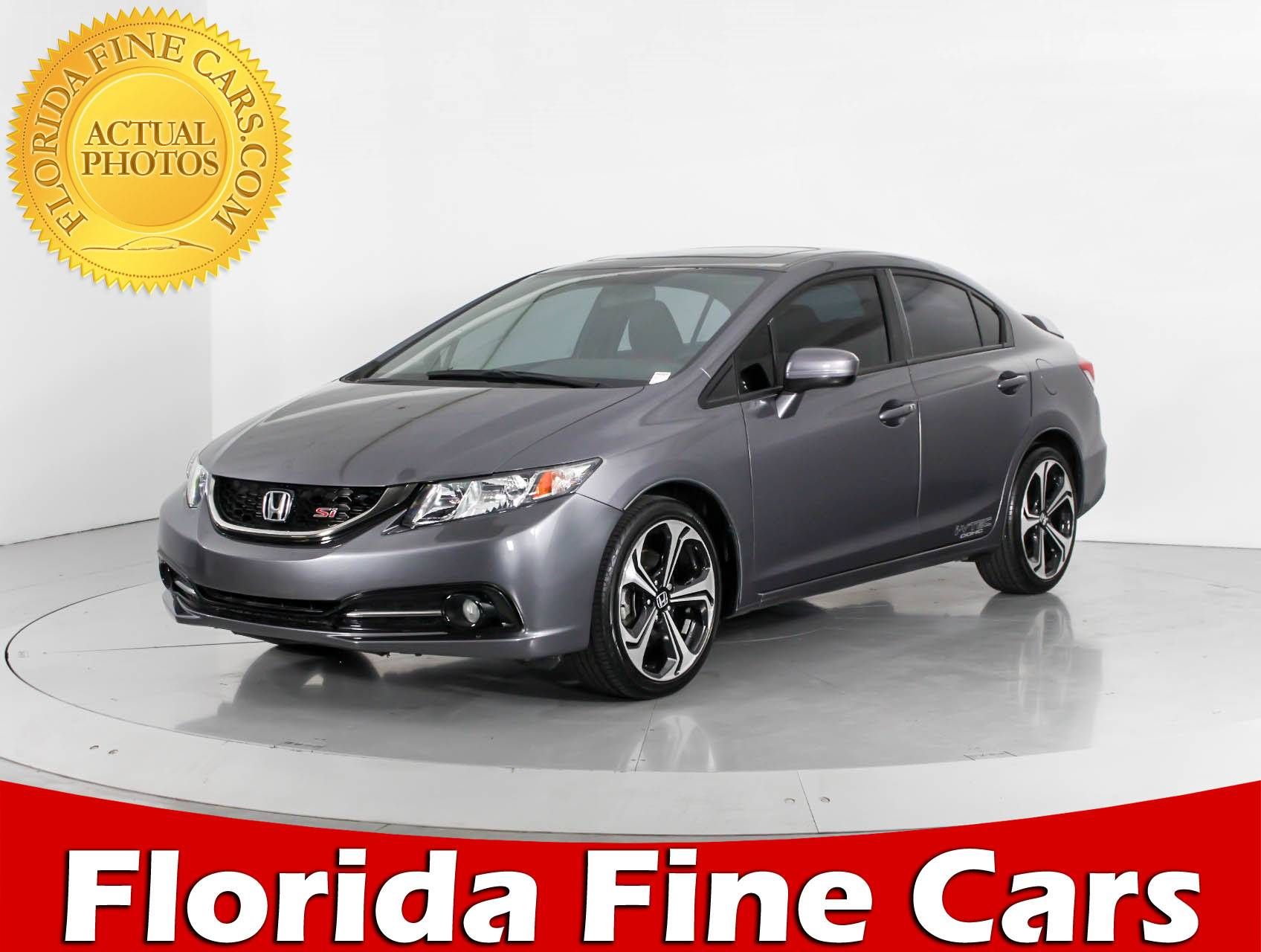 Used 2015 HONDA CIVIC SI Sedan For Sale In HOLLYWOOD, FL | 93138 | Florida  Fine Cars