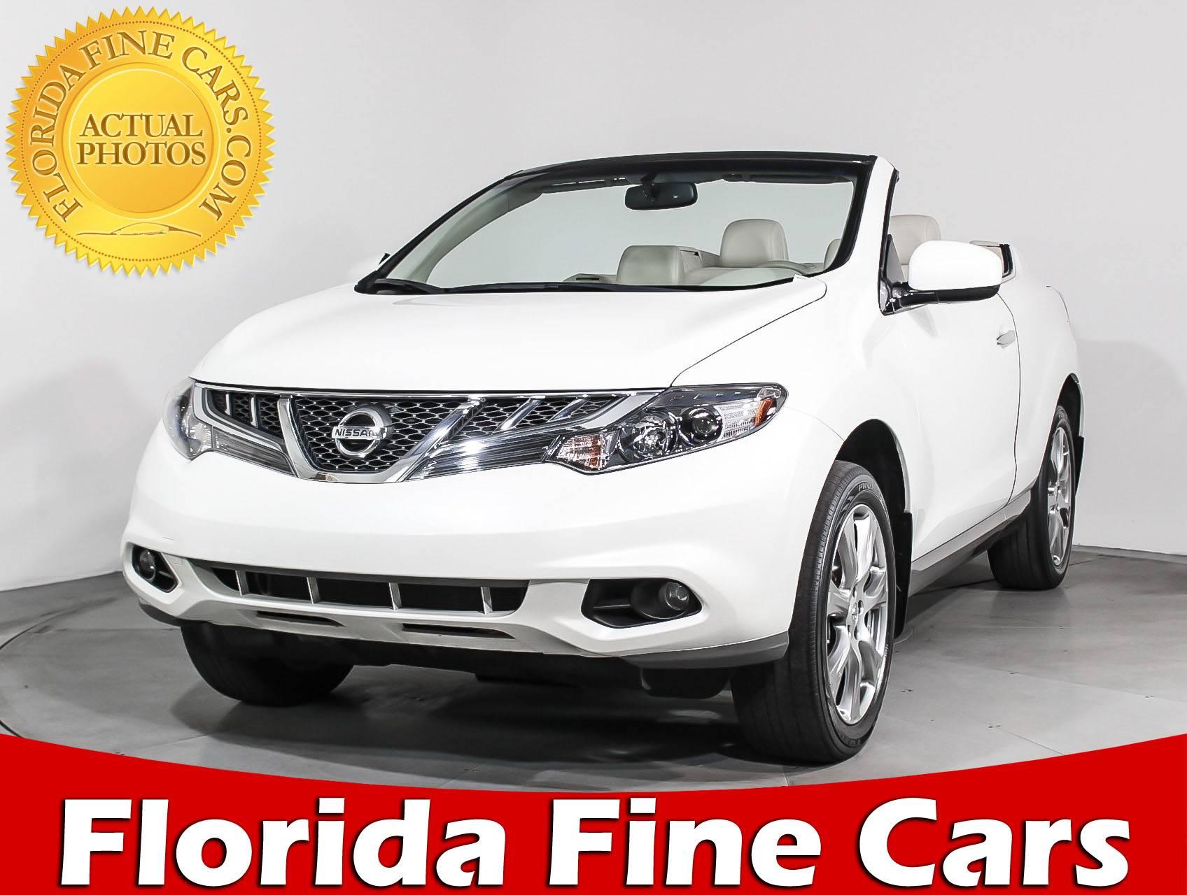 Used 2014 NISSAN MURANO CROSSCABRIOLET Convertible For Sale In MIAMI, FL    93427   Florida Fine Cars