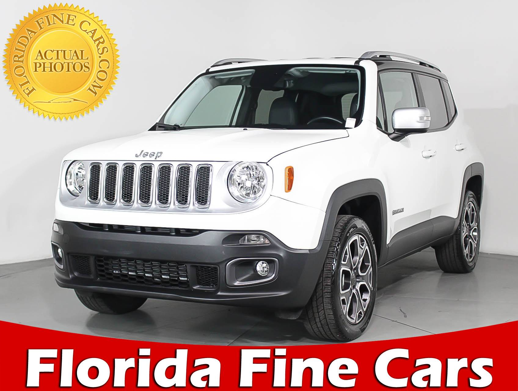 Used 2017 Jeep Renegade Limited 4x4 Suv For In Margate Fl 94620 Florida Fine Cars