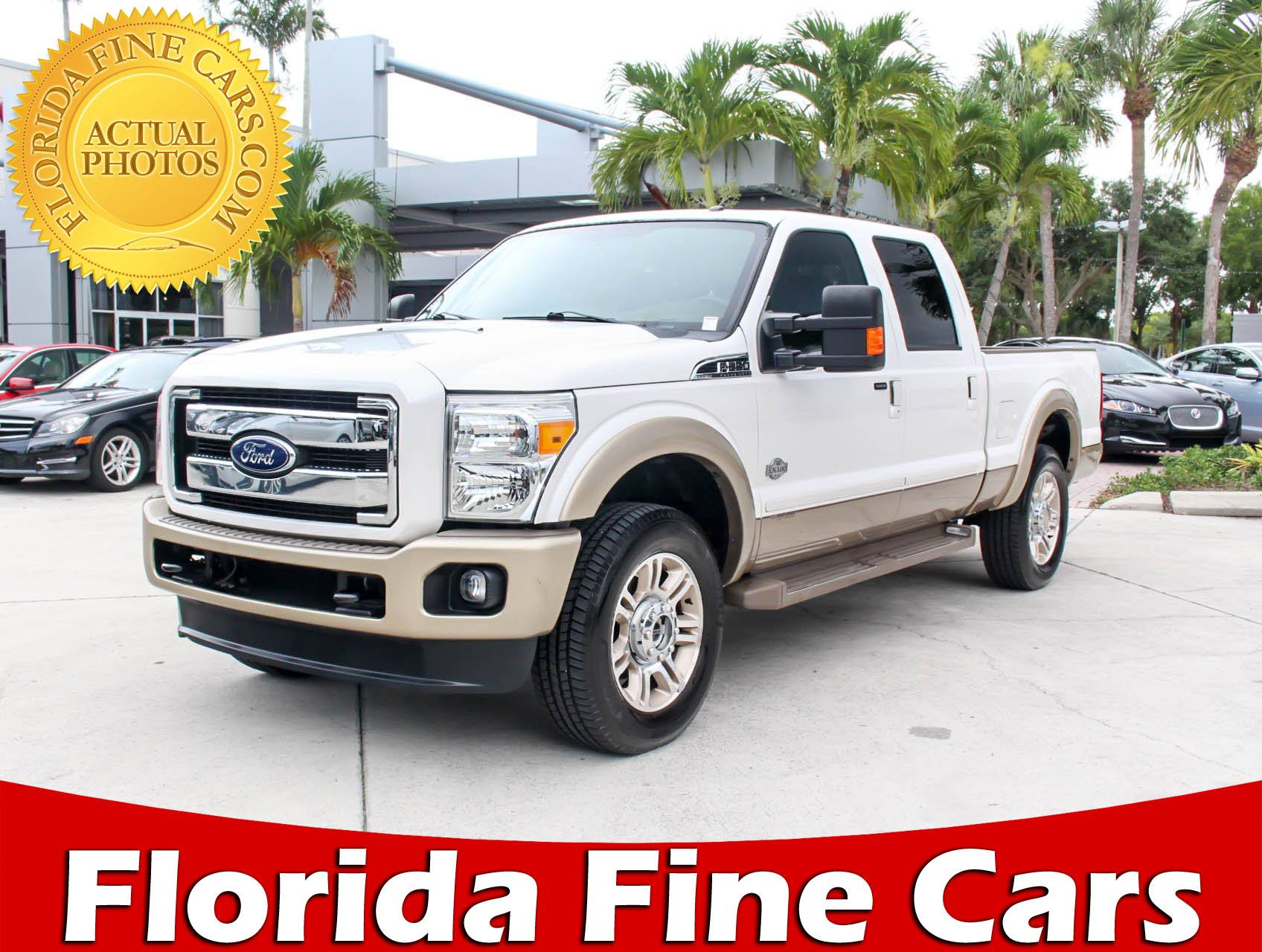 Used 2014 FORD F 250 King Ranch Lariat Truck for sale in WEST PALM