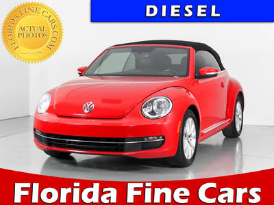 Used VOLKSWAGEN BEETLE 2014 WEST PALM Convertible Tdi